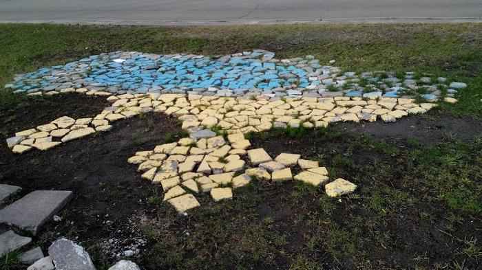Викладена плиткою Україна