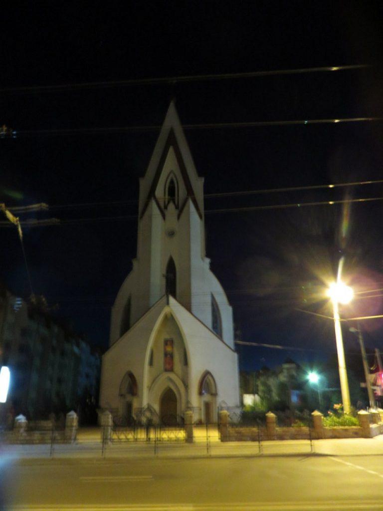Костел Божого милосердя вночі